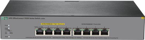 Коммутатор HP 1920S управляемый 8 портов 10/100/1000Mbps JL383A коммутатор hp e1910 8 poe управляемый 8 портов 10 100mbps poe jg537a