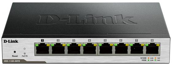 Коммутатор D-LINK DGS-1100-08PD управляемый 8 портов 10/100/1000Mbps коммутатор d link dgs 1100 26 b2a