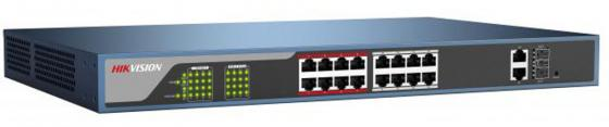 Коммутатор Hikvision DS-3E0318P-E 16-ports 10/100Mbps коммутатор hikvision ds 3e1326p e 24 ports 10 100mbps