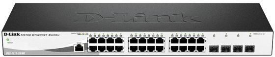 Коммутатор D-Link DGS-1210-28/ME/P/B1A управляемый 24 порта 10/100/1000Mbps 4xSFP коммутатор d link dgs 1210 28xs me b1a