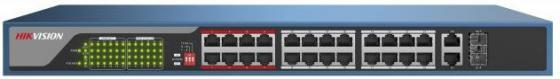 Коммутатор Hikvision DS-3E0326P-E 24-ports 10/100Mbps коммутатор hikvision ds 3e1326p e 24 ports 10 100mbps