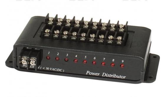 Распределитель SC&T PD009 для цепи питания 1 вход на 9 выходов