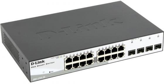 Коммутатор D-LINK DGS-1210-20/C1A Настраиваемый коммутатор WebSmart с 16 портами 10/100/1000Base-T и 4 портами 1000Base-X SFP коммутатор d link dgs 1210 52mp c1a dgs 1210 52mp c1a