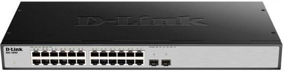 Коммутатор D-LINK DGS-1026X/A1A неуправляемый 24 порта 10/100/1000Mbps коммутатор cisco sg110 24hp eu неуправляемый 24 порта 10 100 1000mbps