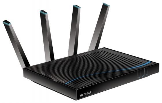 Беспроводной маршрутизатор NetGear D8500-100EUS 802.11aс 5332Mbps 5 ГГц 2.4 ГГц 6xLAN USB черный netgear fs728tp 100eus