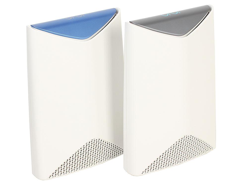 Точка доступа NETGEAR SRK60-100EUS Трехдиапазонная беспровобная смарт-система Orbi - KIT (RBR50 + RBS50 ) AC3000, 802.11ac 1733 + 866 + 400 Мбит/с роутер беспроводной netgear orbi srk60 100eus wi fi белый