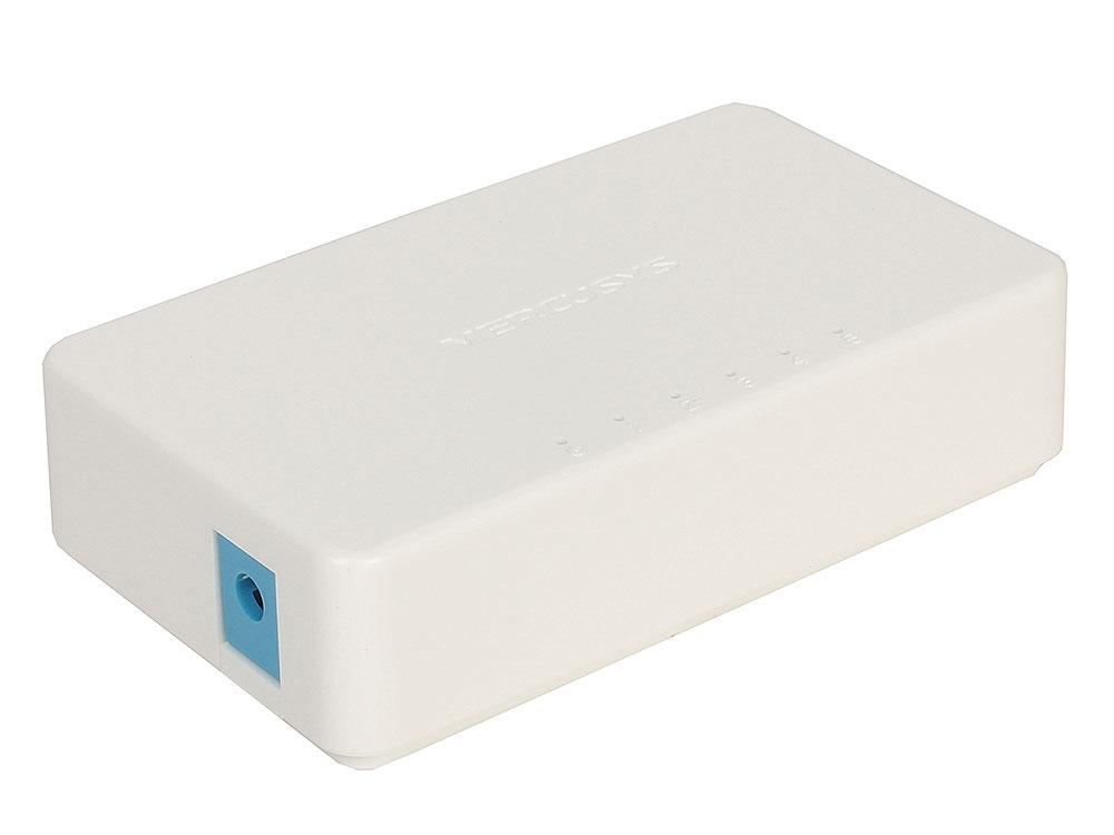 Коммутатор Mercusys MS105 5-портовый 10/100 Мбит/с настольный коммутатор, 5 портов RJ45 10/100 Мбит/с, пластиковый корпус 10 bp096wx1 100 bp096wx7 100