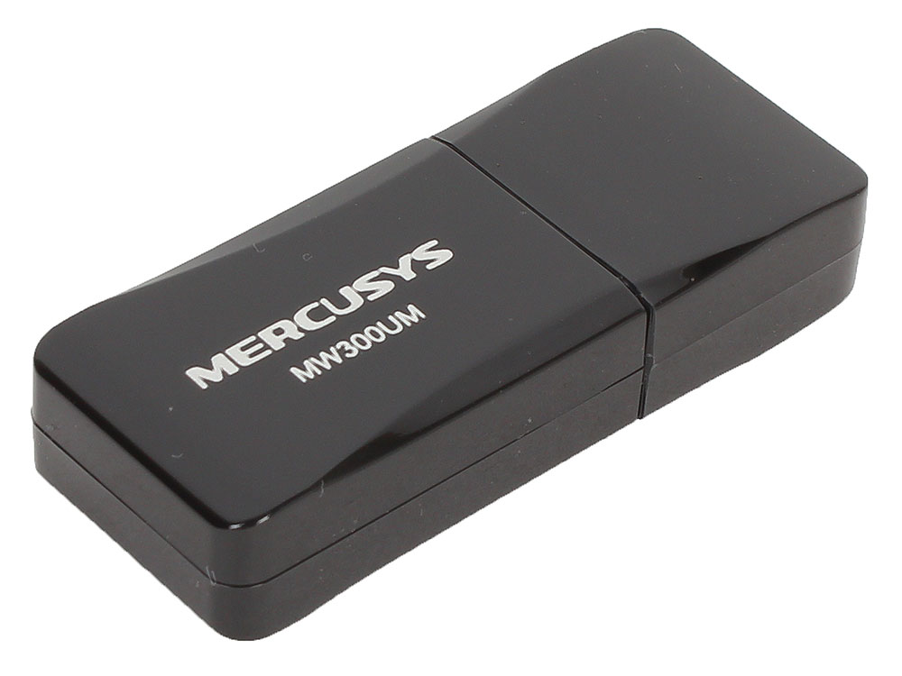 Беспроводной Wi-Fi адаптер Mercusys MW300UM 802.11bgn, 300Mbps, 2.4GHz, USB wi fi адаптер upvel ua 382ac white