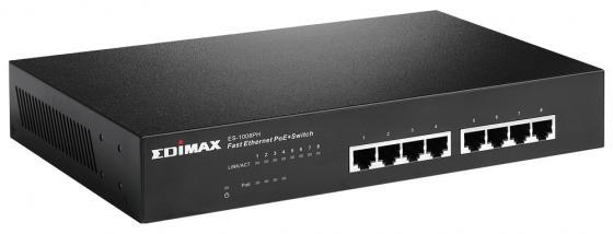 Коммутатор Edimax ES-1008PH неуправляемый 8 портов 10/100Mbps очиститель для унитаза snowter запасной блок хвоя 40 г