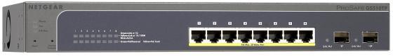 Картинка для Коммутатор Netgear GS510TLP-100EUS управляемый 8 портов 10/100/1000Mbps