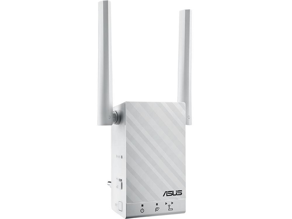 Усилитель Wi-Fi сигнала ASUS RP-AC55 Двухдиапазонный беспроводной повторитель стандарта Wi-Fi 802.11ac 24a усилитель повторитель сигнала extend led 5050 3528 rgb полосы света