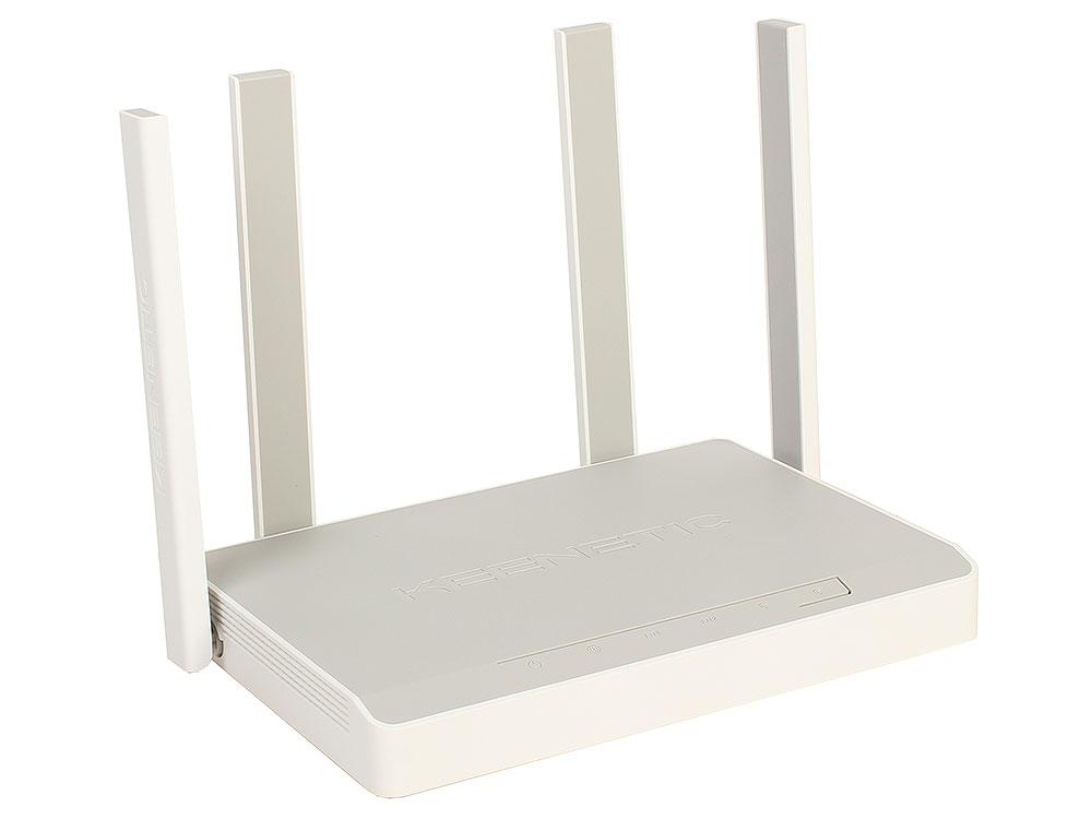 Wi-Fi роутер Keenetic Giga KN-1010 802.11acbgn, 1267Mbps, 2.4/5GHz, 4xLAN, 2xUSB, SFP wi fi роутер zyxel keenetic extra ii