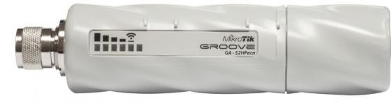 Беспроводная точка доступа MikroTik GrooveA 52 ac 802.11abgnac, 150Mbps, 2.4/5GHz, 1xLAN, PoE точка доступа level one wap 6002 беспроводная точка доступа 802 11n 150mbps