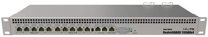 Маршрутизатор MikroTik RB1100Dx4 13xGbit LAN, RS-232 адаптер rs 232 bracket 1xcom bulk