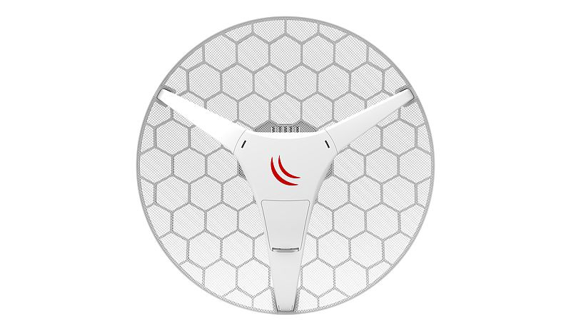 Точка доступа MikroTik RBLHG-5HPND LHG HP5 with 24.5dBi 5GHz antenna, Dual Chain High Power 802.11an wireless, 600MHz CPU, 64MB RAM, lx LAN, POE, PS точка доступа mikrotik rb912uag 5hpnd out basebox 5 with 600mhz atheros cpu 64mb ram 1xgigabit lan usb minipcle built in 5ghz 802 11a n 2x2 two c
