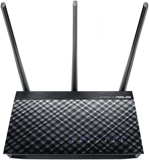 Маршрутизатор ADSL ASUS DSL-AC51 Двухдиапазонный маршрутизатор Wi-Fi VDSL2/ADSL AC750 USB