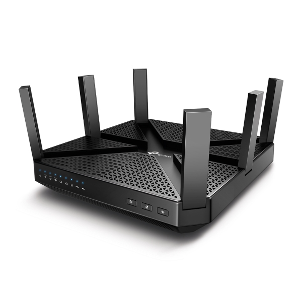 Маршрутизатор TP-LINK Archer C4000 AC4000 Tri-Band Wi-Fi Router,Broadcom 1.8GHz Qual-Core CPU, 1625Mbps at 5GHz_1 + 1625Mbps at 5GHz_2+ 750Mbps at 2 unison at core