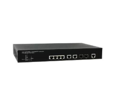 Коммутатор Upvel UP-204MGEC Управляемый гигабитный 4-портовый POE+ коммутатор 2-го уровня c двумя комбо-портами, консольным портом, PoE бюджет 70 Вт