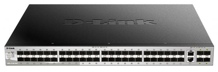 Коммутатор D-Link DGS-3130-54TS/A1A Управляемый стекируемый 3 уровня с 48 портами 10/100/1000Base-T, 2 портами 10GBase-T и 4 портами 10GBase-X SFP+