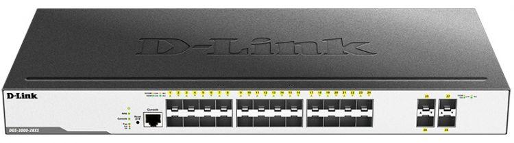 Коммутатор D-Link Switch DGS-3000-28XS/B1A Управляемый коммутатор 2 уровня с 24 портами 1000Base-X SFP и 4 портами 10GBase-X SFP+ [vk] bze6 2rn80 switch snap action spdt 15a 125v switch