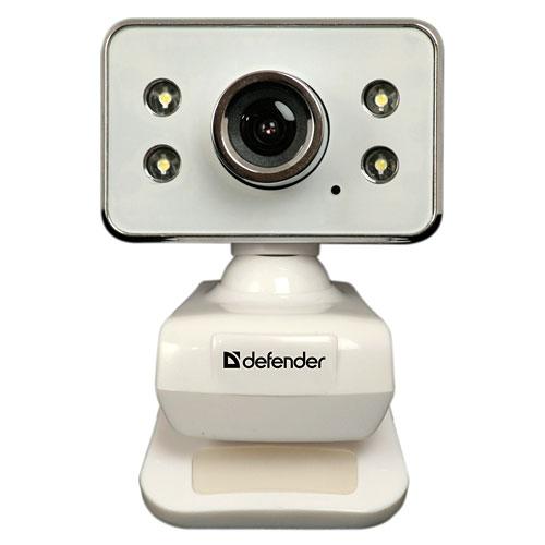 Камера интернет Defender G-lens 321-I 0.3МП, USB, подсветка, белый