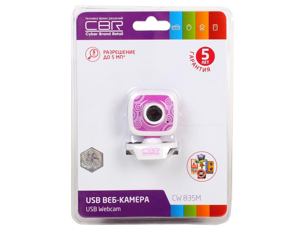 Камера интернет CBR CW-835M Purple, универс. крепление, 4 линзы, 1,3 МП, эффекты, микрофон,