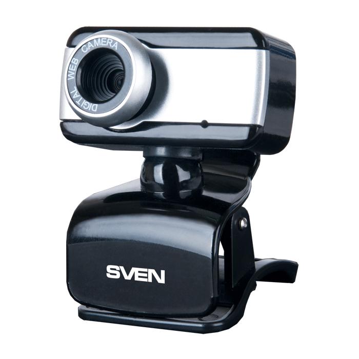 Интернет-камера SVEN IC-320 Black-Silver (640x480, USB2.0, микрофон) камера интернет sven ic 950 hd