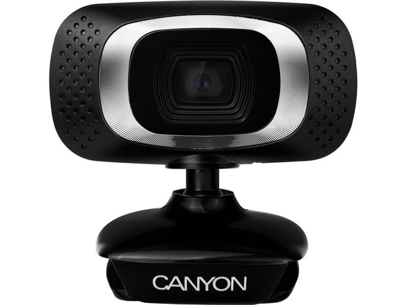 Веб-камера CANYON CNE-CWC3 1080P Full HD webcam with USB2.0. connector, 360° rotary view scope, 2.0Mega pixels черный-серебристый misecu new 4ch 8ch mini nvr full hd real p2p standalone cctv nvr 1920 1080p onvif for 1080p 960p 720p ip camera security system