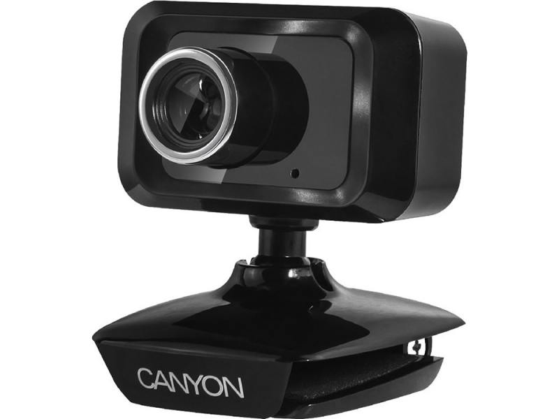 Веб-камера CANYON CNE-CWC1 Enhanced 1.3 Megapixels resolution webcam with USB2.0 connector черный веб камера canyon cne cwc3 1080p full hd webcam with usb2 0 connector 360° rotary view scope 2 0mega pixels черный серебристый