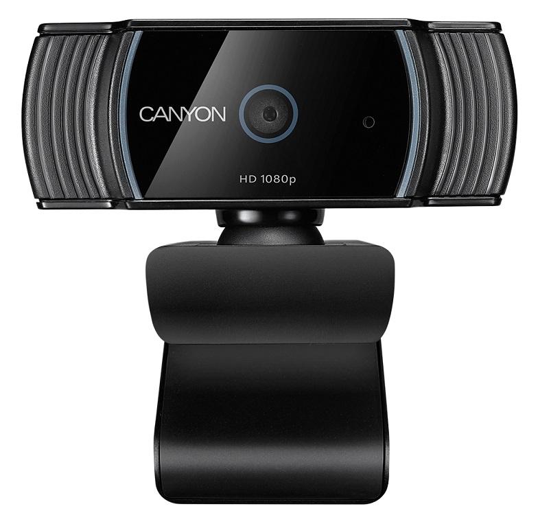 Веб-камера Canyon CNS-CWC5 черный, 2 МПbrc, FHD, USB .0 крепление для штатива, автофокус, микрофон  автоматическим шумоподавлением