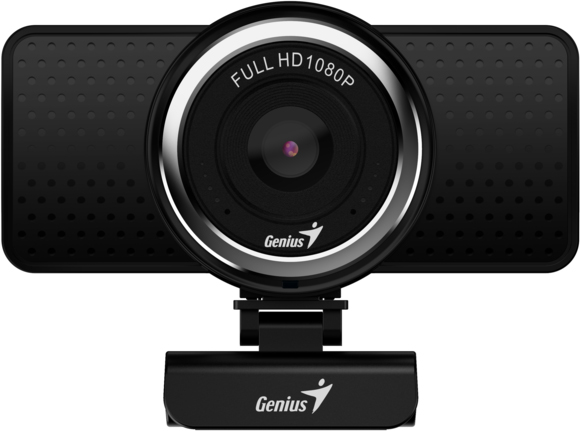 Веб-Камера Genius ECam 8000, black, Full-HD 1080p, swiveling, tripod-ready design, USB, built-in microphone, rotation 360 degree, tilt 90 degree 70m hdmi 2 0 left angled 90 degree male to female active repeater extender booster coupler adapter 1080p hdtv