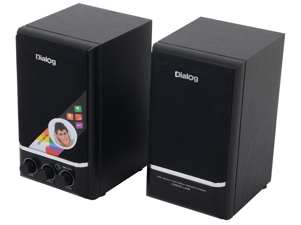 Колонки Dialog Disco AD-04 Black 16W RMS-2.0 dialog md 15 black