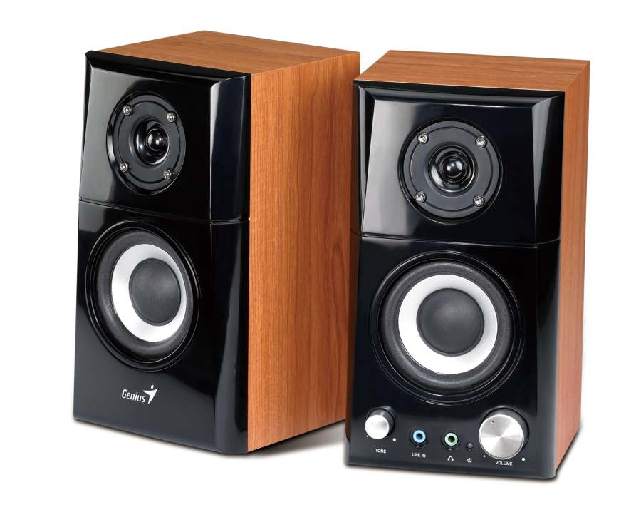 Колонки Genius SP-HF500A, 14Вт RMS цвет brown wood