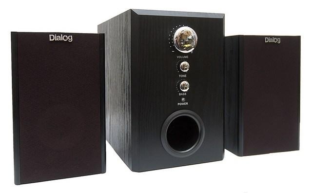 Колонки Dialog W-3000 Black,60W,RMS-2.1