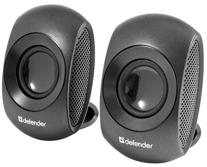 Колонки Defender 2.0 Neo S4 — 2x2W, USB, черный