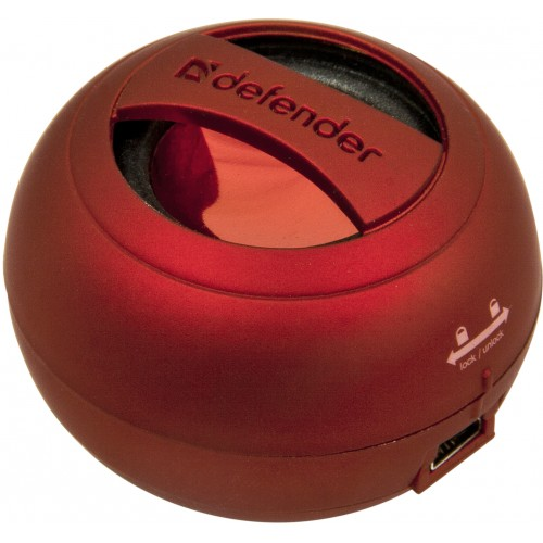 Колонки Defender Soundway Red — 2 Вт, портативная