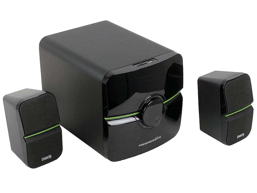 Колонки Dialog Progressive AP-203 Black - 2.1, 18W+2*10W RMS, USB+SD reader