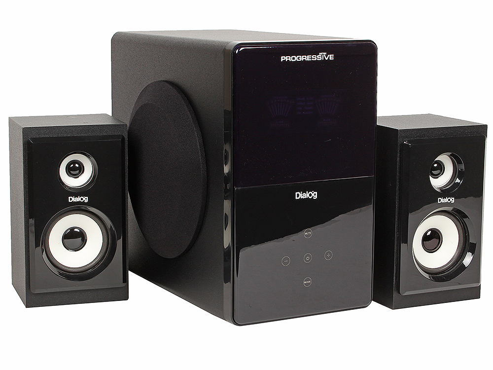 Колонки Dialog Progressive AP-220 BLACK - 2.1, 30W+2*12W RMS, USB+SD reader