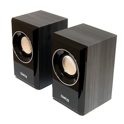 Колонки Dialog Stride AST-15UP BLACK - 2.0, 6W RMS, черные, питание от USB колонки dialog stride ast 20up 6w usb черный