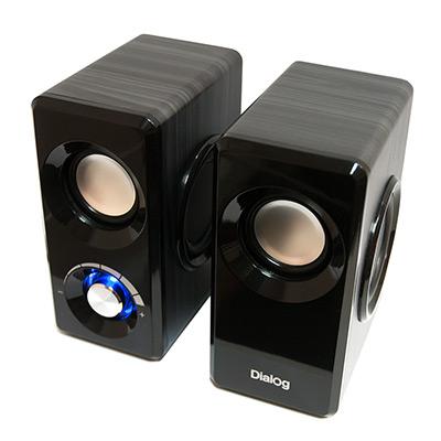 Колонки Dialog Stride AST-25UP BLACK - 2.0, 6W RMS, черные, питание от USB