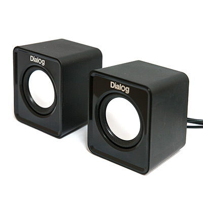 цена на Колонки Dialog Colibri AC-02UP BLACK - 2.0, 6W RMS, черные, питание от USB