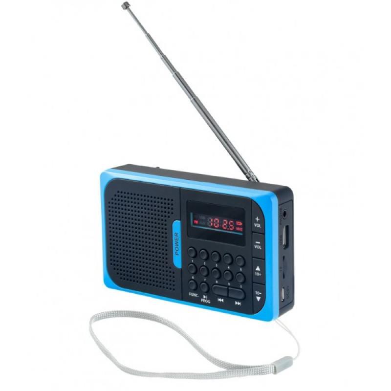 Мини аудио система Perfeo Sound Voyager, УКВ+FM,MP3, цифровые кнопки, BL-5C 600mAh, синий (PF-SV521-BL)