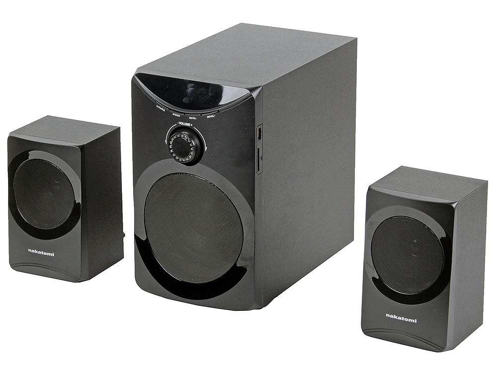 Колонки Nakatomi GS-25 Black 2.1, 12W+2*8W RMS, USB+SD reader