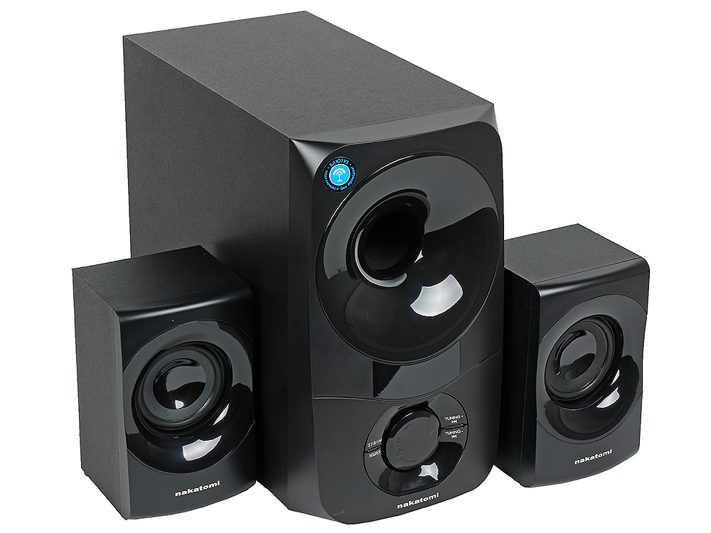 Колонки Nakatomi GS-35 Black 2.1, 30W+2*15W RMS, Bluetooth, USB+SD reader