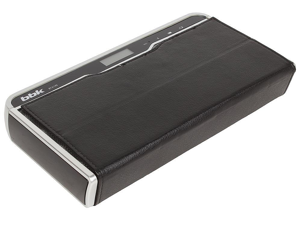 Беспроводная (bluetooth) акустика BBK BTA130 черный/металлик