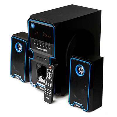 Колонки Dialog Progressive AP-222B black 2.1, 30W+2*10W RMS, Bluetooth, USB+SD reader колонки dialog disco ad 06 black 24w rms 2 0