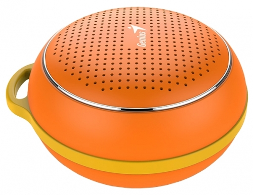 Портативная колонка Genius SP-906BT, Orange (3 Вт, 100 - 20 000 Гц, Bluetooth, USB, батарея) цена
