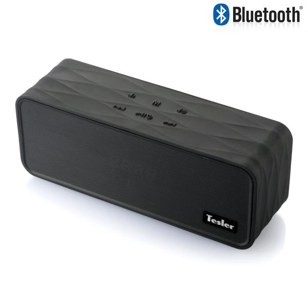 Портативная акустическая система TESLER PSS-555 Черный, Bluetooth, прорезиненный корпус, дисплей, Мощность колонок 2х4,5 Вт, FM Радиотюнер портативная колонка tesler pss 555