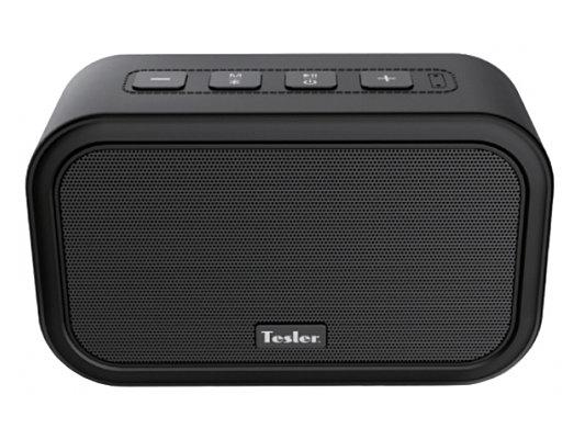 Портативная акустическая система TESLER PSS-444 Черный, Bluetooth, прорезиненный корпус, мощность колонок 2х3 Вт