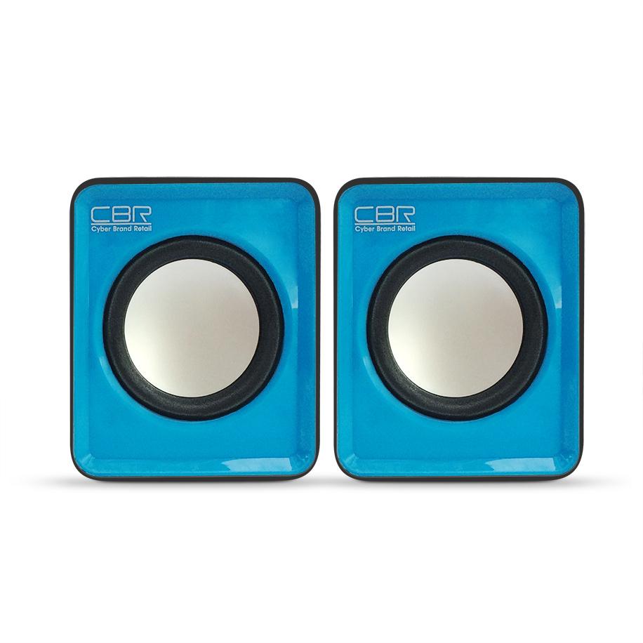 Колонки CBR CMS 90, Blue, динамики 4,5 см., USB